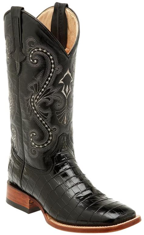 ferrini s alligator belly print 13 quot square toe cowboy