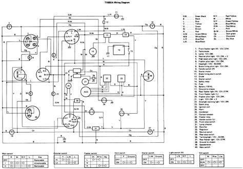 yamaha xj 650 wiring diagram wiring diagram and schematics