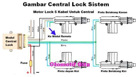 Alarm Mobil Dan Pemasangan motor lock pintu mobil dua kabel dan lima kabel otomotrip