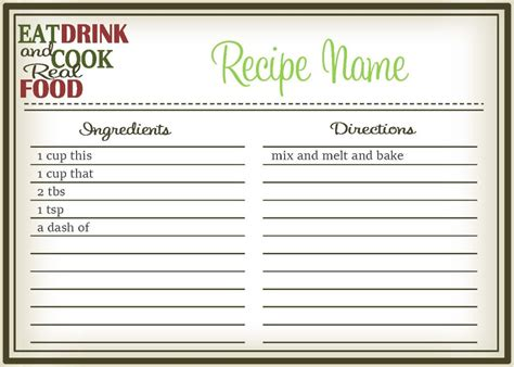 how to make your own recipe card template real food recipe cards diy editable the healthy honeys