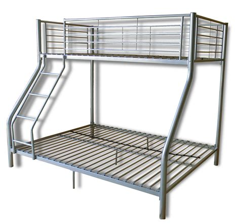 Bunk Beds With High Rails Simple Silver Iron Finished Ikea Loft Bed With Ladder And High Rail Bunk Beds For Decorate Boys