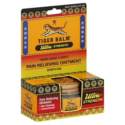 icy hot or tiger balm tiger balm pain relieving ointment non staining ultra