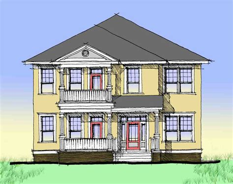 double porch house plans charleston style double side porch 44014td