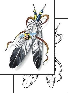 creek indian tribal tattoos feather design ccf 01060 tattoojohnny