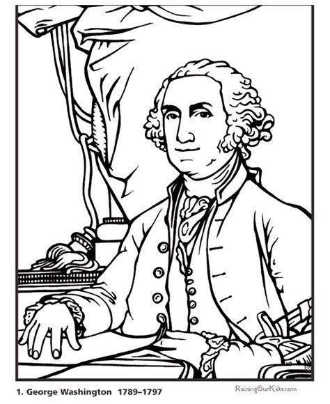 george washington printable biography printable president george washington coloring page and