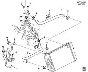 1994 Pontiac Firebird Parts 1994 Pontiac Firebird Hoses Pipes Radiator