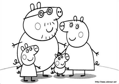 peppa pig para colorear pintar e imprimir dibujos para colorear de peppa pig pequeocio