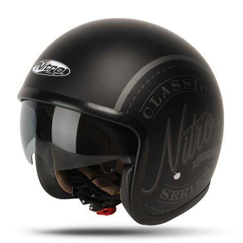 motocross helmet with shield nitro x581 decal classic open face sun shield scooter mod