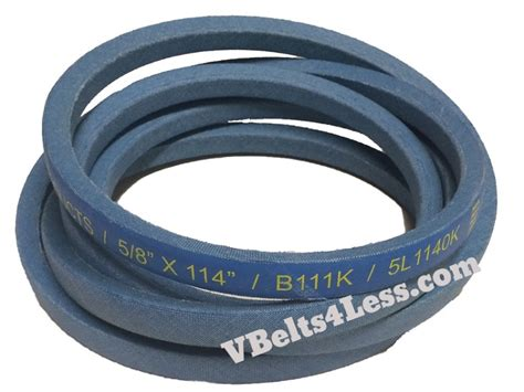 k section v belt b111k b section kevlar k plus v belts replaces sears