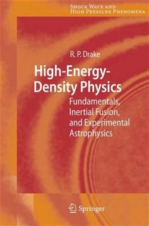 the of high energy books high energy density physics r p 9783540293149