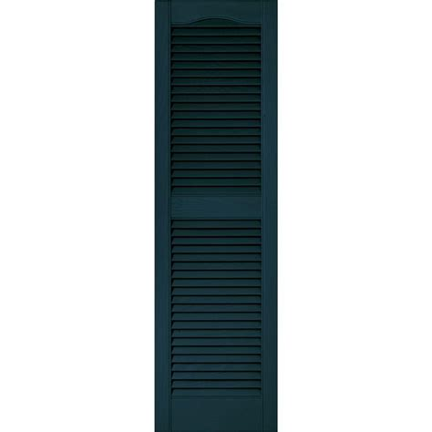 Home Depot Window Shutters Interior builders edge 15 in x 52 in louvered vinyl exterior