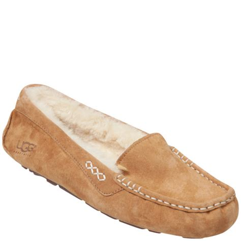 best slippers ugg s ansley moccasin suede slippers chestnut