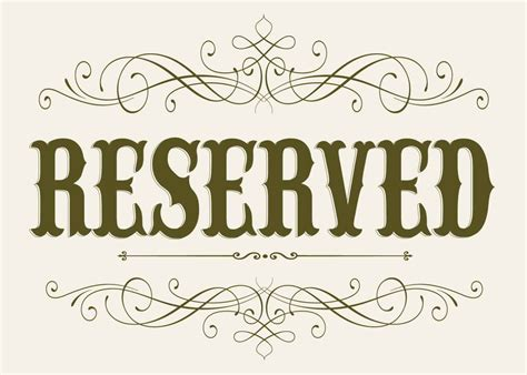 wedding seating reserved sign 5 x 7