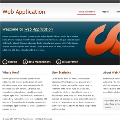 Web Application Template Free Website Templates In Css Html Js Format For Free Download 52 87kb Free Web Application Templates With Css