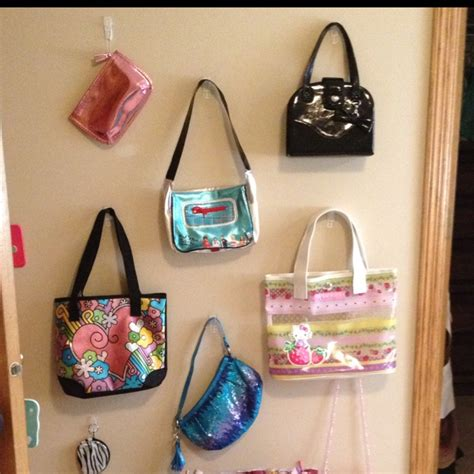 girls bedroom hooks daughters purse decoration fun to use and covers the wall