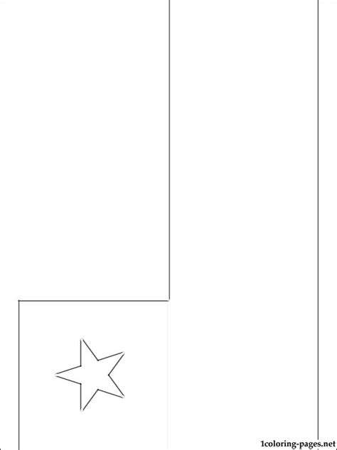 chile flag coloring page coloring pages