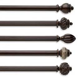 Cambria Curtain Rod Brackets Cambria Chocolate Fluted Wood Pole Decorative Window