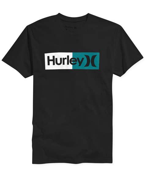 Tshirt Hurley Black 1 hurley halfer t shirt in black for lyst