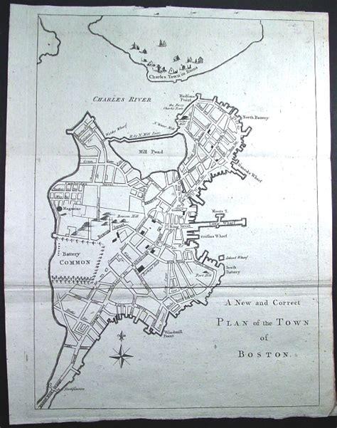 boston map 1775 1775 plan of the town of boston