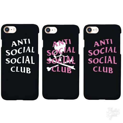 Iphone 6 6s Plus Anti Social Club Supreme Hardcase 1 anti social social club h 252 lle supreme new matte cover for iphone 5s 6s 6plus