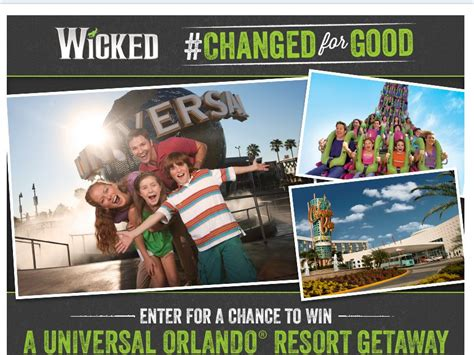 Good Sweepstakes - wicked changed for good sweepstakes