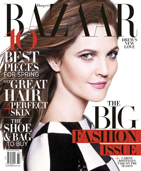 Drew Barrymore Looking Pretty On The Cover Of Janes March Issue by New Photos Drew Barrymore In S Bazaar