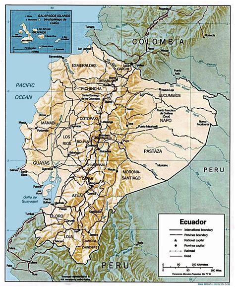 ecuador on map ecuador maps