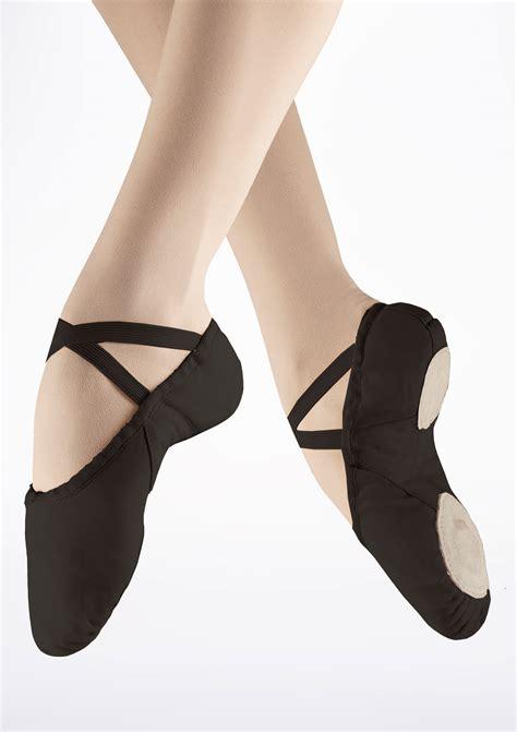 freed s canvas split sole ballet shoe black move