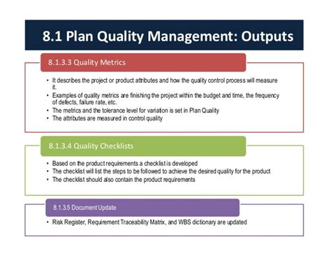 quality assurance metrics template project quality management
