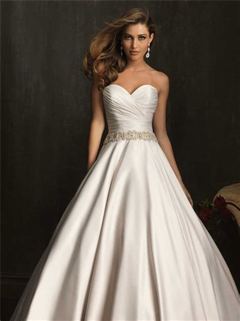 simple exquisite gown strapless ruched beaded satin