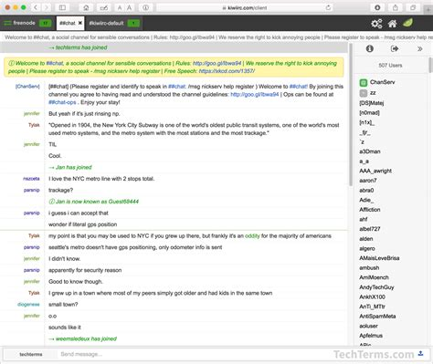 irc chat rooms irc relay chat definition