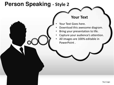 Person Speaking Style 2 Powerpoint Presentation Templates Speaking Powerpoint Template