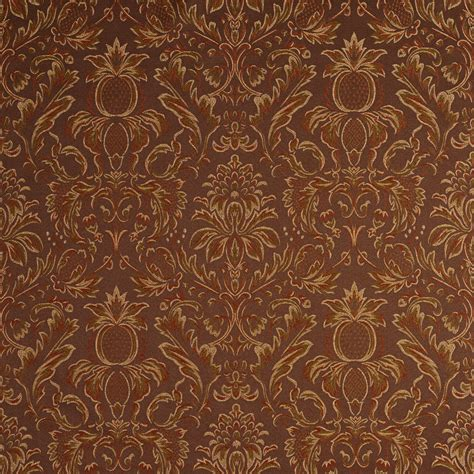 damask fabric for upholstery sable brown and dark green heirloom damask upholstery fabric