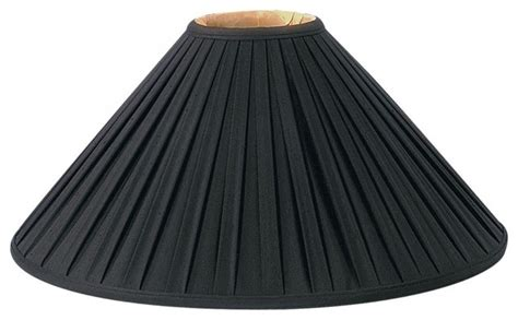 Royal designs inc pleated coolie designer lampshade black amp reviews houzz