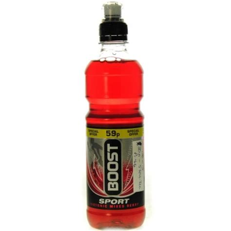 Berry Sport boost sport isotonic mixed berry flavour sports cap 500ml approved food