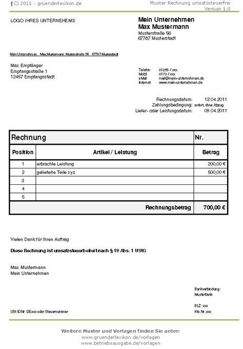 Rechnung An Schweiz Mit Mwst Wie Muss Die Rechnung Aussehen Wenn Kleinunternehmer Ist Und Keine Mwst Abf 252 Hrt