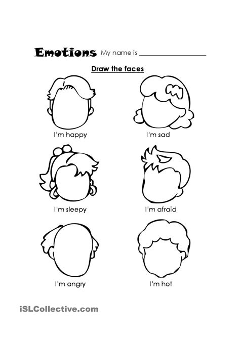 worksheets for preschoolers about feelings fiar rag coat emotions and expressions worksheet full