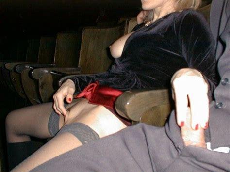 Movie theater masturbation