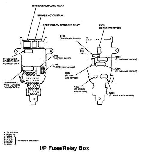acura cl   fuse box diagram auto genius