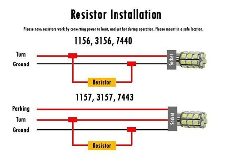 load resistors installation 4 pcs load resistors led bulbs turn signal light blink flash fix ebay