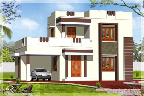 home design pictures 1400 square flat roof home design kerala house design idea
