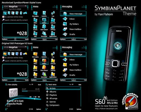 themes creator for e63 symbianplanet theme by evasketch on deviantart