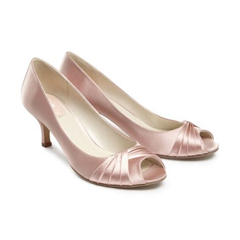 Blush Bridesmaid Shoes pink paradox blush satin bridesmaid or