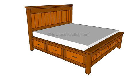 Drawer Bed Frame King Woodwork King Bed Frame With Drawers Plans Pdf Plans