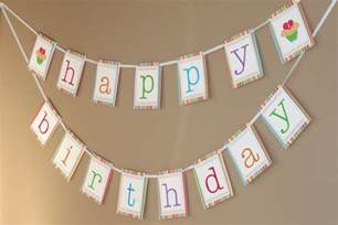 How To Make A Happy Birthday Banner Of Paper - free printable happy birthday banner templates best