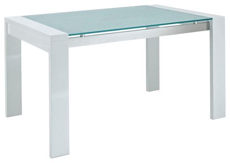Frosted Glass Dining Table Lakeshore Frosted Glass Dining Table Modern Dining Tables By Lexmod