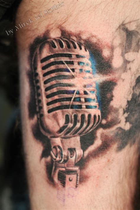 microphone tattoos designs 50s microphone by mirek vel stotker blasters