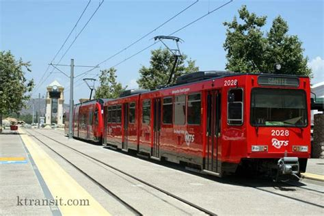 San Diego Light Rail by San Diego Trolley Santee Station
