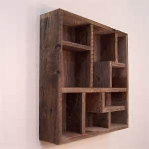 barn wood shelves wall decor wood wall display shelves shadowbox from