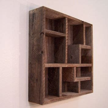 barn wood shelves wall decor wood wall display shelves shadowbox from